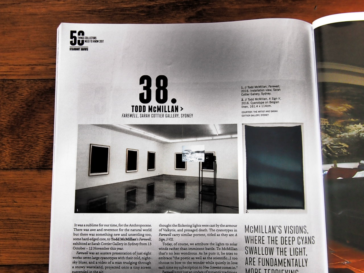 Todd McMillan featured in Art Collector