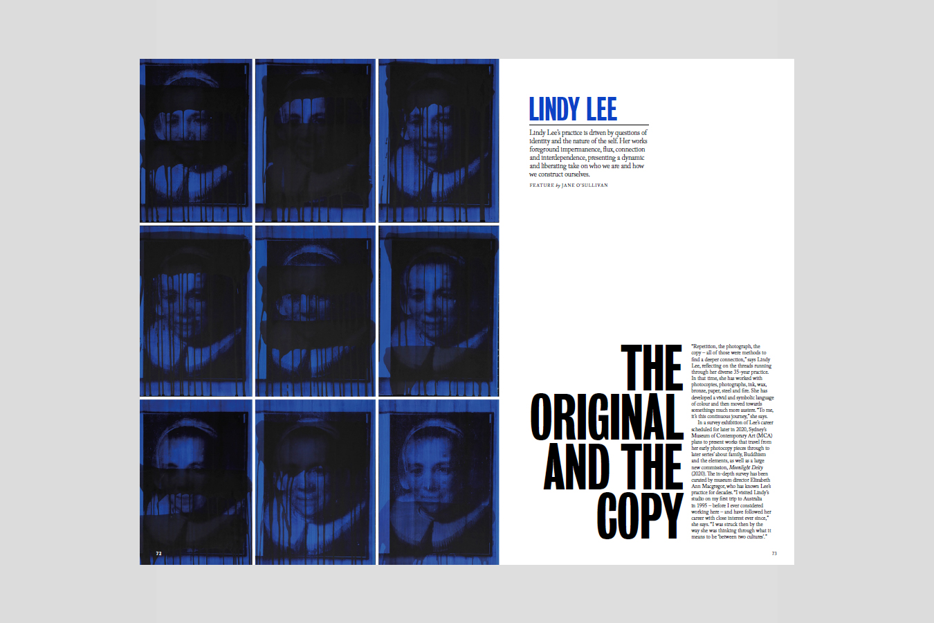 Lindy Lee in Vault magazine